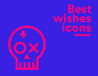 Best wishes - Outline icons