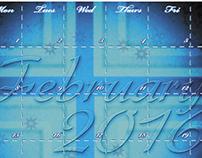 Custom Made Calendar Design for February!