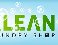 Sparklean Laundry Shop Logo