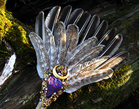 GOLDEN OAKWING Feather Smudge Fan