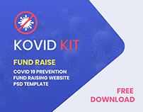 Kovid Kit | Fund Raise - PSD Template Free Download