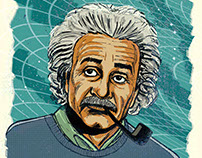 Science Portraits: Einstein