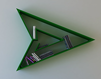 Green Arrow, logo, shelf, interrior, design, bookshelf