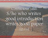 Confucius Said
