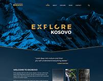EXPLORE KOSOVO - web design