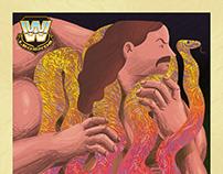 Jake the snake Roberts - WWE Art Show