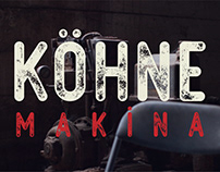 "Free ""KÖHNE MAKİNA"" Textured Vector Font"