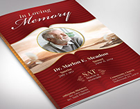 Loving Funeral Program Word Publisher Template