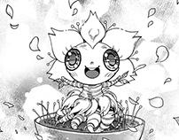[Smiling] Blossom-! / A silent manga story.