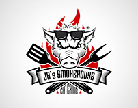 Smokehouse catering business logotype icon icons лого