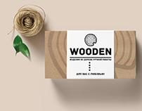 """Logo for the workshop """"WOODEN"""""""