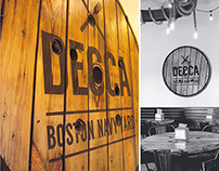 Decca Boston Navy Yard restaurant identity