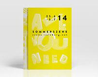 Sommerszene 2014 Festival Design