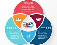 Free Teamwork Infographic Design Vector Graphics