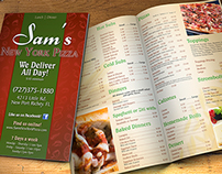 Sam's New York Pizza - Print collateral