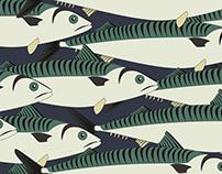 Mackerel fish pattern