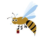 """Illustration """"Bee"""" Västerbottens läns landsting"""