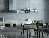 Full CGI kitchen interior