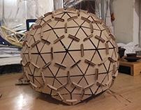 Geodesic sphere cardboard