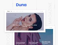 Duna — Blog & Magazine template