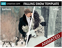 Animated Falling Snow Photoshop template