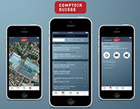 Design application Comptoir Suisse