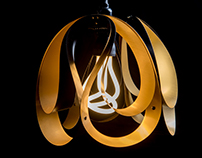Drop pendant light - Brushed Brass / Black