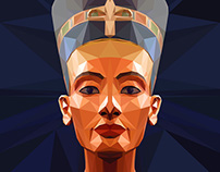 EGYPT _ Nefertiti _ Low Poly Style