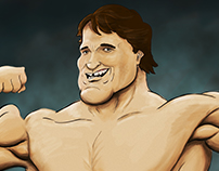 Arnold Schwarzenegger Caricature