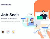 Job Seek Illustration Scene