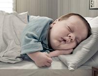 Sealy matress ad. Sleep like a baby.