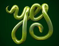 Snake 3D Typo