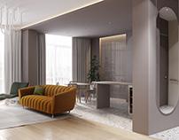 White Terrazzo Apartment
