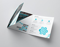 Lunameris Square Tri-fold Brochure Template