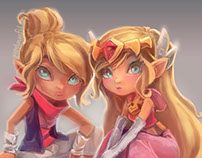Zelda and Tetra [PM2014 Illustration]