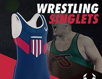 Wrestling Singlets Costum Mockup
