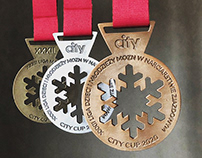 Set of medals for ski racing league