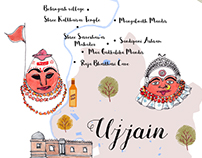 Illustrated Map of Ujjain for National Geographic