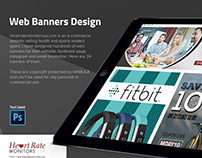 Web Banners Design - HeartRateMonitorsUsa.com