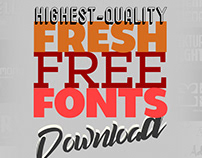 Fresh Fonts Free Download (17 Fonts)