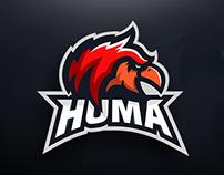 Huma.GG - Griffin Mascot Logo Design