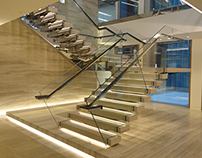 Burlington: Bespoke Commercial Central Spine Staircase