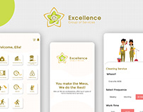 App UI for Cleaning Service Company