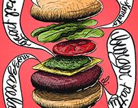 Ilustrações Dini's Burger