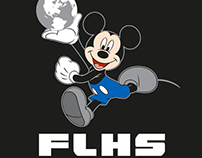 Ludlow Cheerleading Disney Mickey T-shirt Design