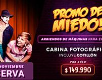 Campaña PROMO DE MIEDO - ViveParty.cl