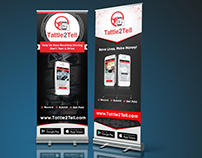 Roll Up Banner for mobile application/ mobile app.