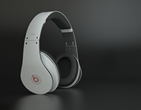 Beats by Dre Product Rendering 3D Visualization