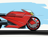 concept motorcycle in Adobe Illustrator mobile