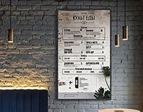 Menu design for a Street food cafe